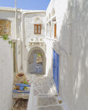 Picturesque alley in a Mediterranean island Stock Image