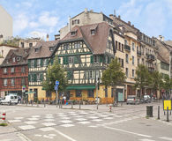 The picturesque architecture of Strasbourg. Historical buildings in Strasbourg, France Royalty Free Stock Image