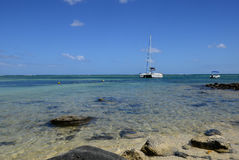 Picturesque area of la Pointe aux canonniers in Mauritius Stock Photography