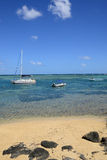 Picturesque area of la Pointe aux canonniers in Mauritius Royalty Free Stock Image