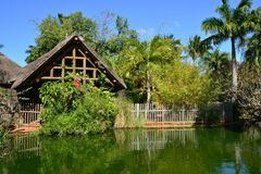 Picturesque area of  La Pointe aux Canonniers in Mauritius Repu Stock Image