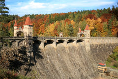 Picturesque autumn. Dam Les Kralovstvi in Bila Tremesna, Czech Republic Royalty Free Stock Photography