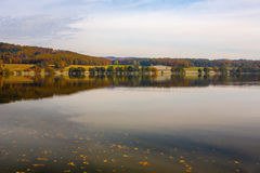 Picturesque autumn landscape. With lake Royalty Free Stock Photos