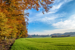 Picturesque, autumnal landscape in south Bavaria, Germany Royalty Free Stock Photo