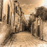 Picturesque backstreet in Venice in sepia tone Stock Image