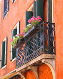 Picturesque balcony with flowers Stock Photography