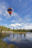 The picturesque balloon flies Stock Photo