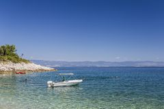 Bay on the coast of Croatia. Picturesque bay on the Adriatic stock photo