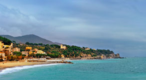 Picturesque bay Celle Ligure, Italy Royalty Free Stock Photo