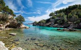 Free Picturesque Beach Calo De Ses Llises, Calvia, Mallorca Island, Baleares, Spain Stock Image - 158506971