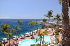 Picturesque beach club in Costa Adeje on Tenerife Stock Images