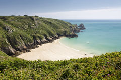 Picturesque beach on Guernsey island, UK Stock Images