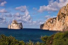 Picturesque beach Masua,Sardinia, Italy Stock Photography