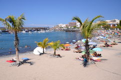 Picturesque beach in Playa de San Juan - a small fishing village on the south west of Tenerife Stock Image