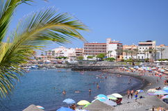Picturesque beach in Playa de San Juan - a small fishing village on the south west of Tenerife Royalty Free Stock Photography