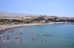 Picturesque beach in Playa de San Juan - a small fishing village on the south west of Tenerife Royalty Free Stock Photos