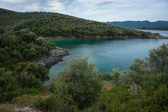 Picturesque beach of Potistika, Pelion, Greece Stock Photos