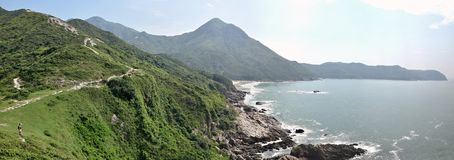The picturesque beach in Sai Kung district in Hong Kong stock photos
