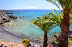 Picturesque beach and volcanic rocks in Alcala on Tenerife Stock Photography