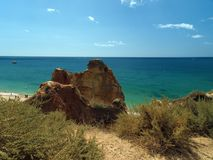 Picturesque beaches of the Algarve Royalty Free Stock Image