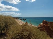 Picturesque beaches of the Algarve Stock Photography