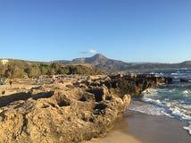 Picturesque beaches of Greece, island of Crete. royalty free stock photos