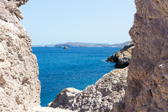 The picturesque beaches of Milos island, Cyclades, Greece Royalty Free Stock Photos