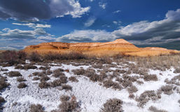Picturesque beautiful panorama Ustyurt royalty free stock photography