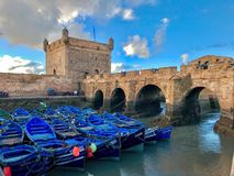 Picturesque and beautiful Streets of Essaouira in Morocco royalty free stock image