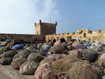 Picturesque and beautiful Streets of Essaouira in Morocco stock photography
