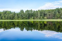 Picturesque beauty of the Russian Lake Seliger stock image