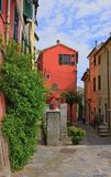 Picturesque bright house in the ancient part of a small town in Tuscany. Italy stock photos