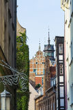 Picturesque buildings Gdansk Stock Photography