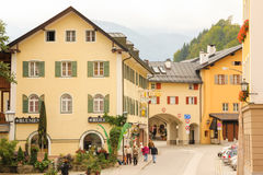 Buildings in the old town. Berchtesgaden. Germany Stock Images