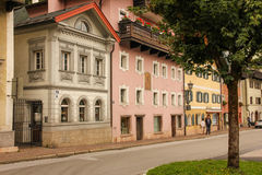 Picturesque buildings in the old town. Berchtesgaden.Germany Royalty Free Stock Images