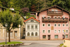 Picturesque buildings in the old town. Berchtesgaden.Germany Royalty Free Stock Image