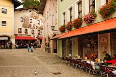 Picturesque buildings in the old town. Berchtesgaden.Germany Stock Image