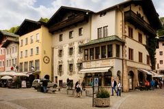Picturesque buildings in the old town. Berchtesgaden.Germany Stock Photo
