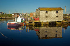 Picturesque Canadian fishing village Stock Photos