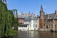 Picturesque Canals Of Ghent , Belgium Stock Images