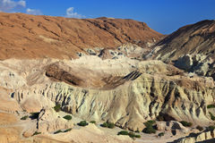 The picturesque canyon in the rocky desert Stock Photography