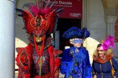 Picturesque carnival costumes Venice Stock Photo