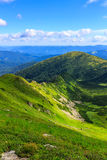 Picturesque Carpathian mountains landscape in summer, view from the height, Ukraine. Stock Image