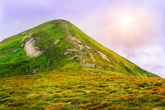 Picturesque Carpathian mountains landscape, view of mount Hoverla, Ukraine. Picturesque Carpathian mountains landscape, view of mount Hoverla, Ukraine stock photography