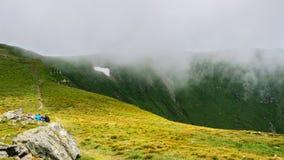 Picturesque Carpathian mountains, nature landscape in summer, Ukraine. Stock Photos