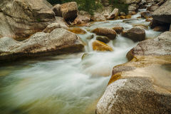 Picturesque cascade in Corsica Royalty Free Stock Photo