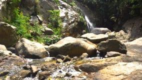 Picturesque Cascade Waterfall in Lush Jungles of Samui Island, Thailiand. 4k UHD stock video