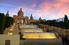 Picturesque Cascades,Barcelona Stock Photos