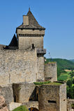 Picturesque castle of Castelnaud in Dordogne Stock Photography