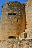Picturesque castle of Castelnaud in Dordogne Royalty Free Stock Photography